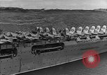Image of USS Lexington heading into the Pacific in World War II Pacific Ocean, 1942, second 10 stock footage video 65675054241