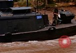 Image of Mobile Riverine Force boats Vietnam War Mekong Delta Vietnam, 1968, second 6 stock footage video 65675054295