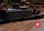 Image of Mobile Riverine Force boats Vietnam War Mekong Delta Vietnam, 1968, second 9 stock footage video 65675054295