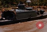 Image of Mobile Riverine Force boats Vietnam War Mekong Delta Vietnam, 1968, second 10 stock footage video 65675054295