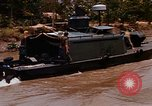 Image of Mobile Riverine Force boats Vietnam War Mekong Delta Vietnam, 1968, second 11 stock footage video 65675054295