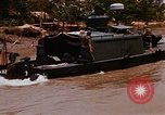 Image of Mobile Riverine Force boats Vietnam War Mekong Delta Vietnam, 1968, second 12 stock footage video 65675054295