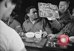 Image of Italian prisoners of war in mess line on USS Wasp (CV-18) Atlantic Ocean, 1945, second 5 stock footage video 65675054311