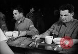 Image of Italian prisoners of war in mess line on USS Wasp (CV-18) Atlantic Ocean, 1945, second 12 stock footage video 65675054311