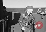 Image of Captain Wendell G.Switzer of the USS Wasp (CV-18) Atlantic Ocean, 1945, second 5 stock footage video 65675054314