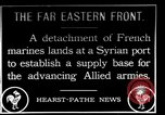 Image of French Marines unload small rail car Syria, 1916, second 1 stock footage video 65675054340
