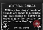 Image of Canadian military training in World War 1 Montreal Quebec Canada, 1915, second 1 stock footage video 65675054344