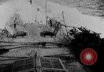 Image of Austrian battleship Szent Istvan rolls and sinks Adriatic Sea, 1918, second 4 stock footage video 65675054365