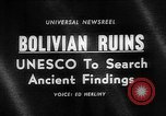 Image of Inca ruins Tiwanaku Bolivia, 1966, second 1 stock footage video 65675054389