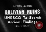 Image of Inca ruins Tiwanaku Bolivia, 1966, second 2 stock footage video 65675054389