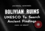 Image of Inca ruins Tiwanaku Bolivia, 1966, second 3 stock footage video 65675054389