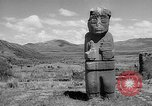 Image of Inca ruins Tiwanaku Bolivia, 1966, second 9 stock footage video 65675054389