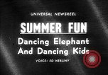 Image of dancing elephant Sparks Nevada USA, 1966, second 1 stock footage video 65675054391