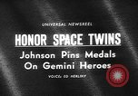 Image of President Johnson awards NASA Gemini IV crew Washington DC USA, 1965, second 1 stock footage video 65675054393