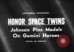 Image of President Johnson awards NASA Gemini IV crew Washington DC USA, 1965, second 3 stock footage video 65675054393