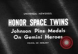 Image of President Johnson awards NASA Gemini IV crew Washington DC USA, 1965, second 5 stock footage video 65675054393
