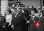 Image of President Johnson awards NASA Gemini IV crew Washington DC USA, 1965, second 10 stock footage video 65675054393