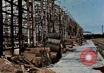 Image of damaged warehouses Yokohama Japan, 1945, second 2 stock footage video 65675054460