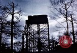 Image of U.S. Army Antiaircraft tower near airfield Avril France, 1945, second 10 stock footage video 65675054475