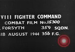 Image of German plane European Theater, 1944, second 4 stock footage video 65675054507