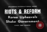 Image of riots and demonstrations Korea, 1960, second 1 stock footage video 65675054563