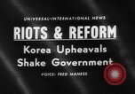 Image of riots and demonstrations Korea, 1960, second 2 stock footage video 65675054563