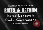 Image of riots and demonstrations Korea, 1960, second 4 stock footage video 65675054563