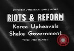 Image of riots and demonstrations Korea, 1960, second 5 stock footage video 65675054563