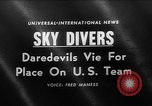Image of Sky divers Fort Bragg North Carolina USA, 1960, second 1 stock footage video 65675054567