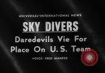 Image of Sky divers Fort Bragg North Carolina USA, 1960, second 4 stock footage video 65675054567