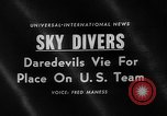 Image of Sky divers Fort Bragg North Carolina USA, 1960, second 5 stock footage video 65675054567