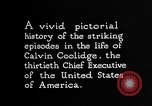 Image of President Calvin Coolidge United States USA, 1925, second 9 stock footage video 65675054641