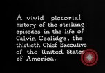Image of President Calvin Coolidge United States USA, 1925, second 10 stock footage video 65675054641