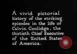 Image of President Calvin Coolidge United States USA, 1925, second 12 stock footage video 65675054641