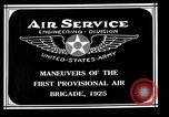 Image of 1st Provisional Air Brigade Langley Field Virginia USA, 1925, second 5 stock footage video 65675054653