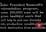 Image of reforestation program by CCC Washington DC USA, 1936, second 11 stock footage video 65675054704