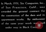 Image of Boulder Dam construction United States USA, 1936, second 4 stock footage video 65675054710