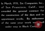 Image of Boulder Dam construction United States USA, 1936, second 10 stock footage video 65675054710