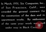 Image of Boulder Dam construction United States USA, 1936, second 12 stock footage video 65675054710