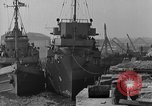 Image of USS Donnell Electric Power Barge Cherbourg Normandy France, 1944, second 11 stock footage video 65675054757
