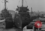 Image of USS Donnell Electric Power Barge Cherbourg Normandy France, 1944, second 12 stock footage video 65675054757