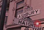 Image of Haight Ashbury hippie scenes in the 1960s San Francisco California USA, 1968, second 3 stock footage video 65675054804