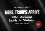 Image of 101st Airborne Division Vietnam, 1965, second 2 stock footage video 65675054829