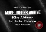 Image of 101st Airborne Division Vietnam, 1965, second 4 stock footage video 65675054829