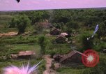Image of Aerial view of dramatic explosions during American bombing in Vietnam Vietnam, 1965, second 11 stock footage video 65675054844