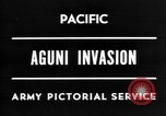 Image of invasion of Aguni Okinawa Ryukyu Islands, 1945, second 7 stock footage video 65675054936