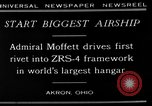 Image of Admiral William Moffett Akron Ohio USA, 1929, second 6 stock footage video 65675054941