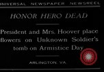 Image of Herbert Hoover Arlington Virginia USA, 1929, second 4 stock footage video 65675054942