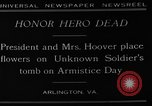 Image of Herbert Hoover Arlington Virginia USA, 1929, second 6 stock footage video 65675054942