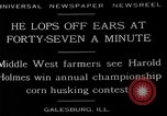 Image of corn husking contest Galesburg Illinois USA, 1929, second 2 stock footage video 65675054943